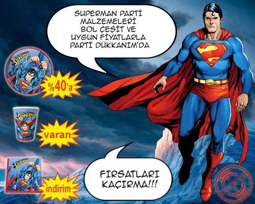 Superman Parti Malzemeleri