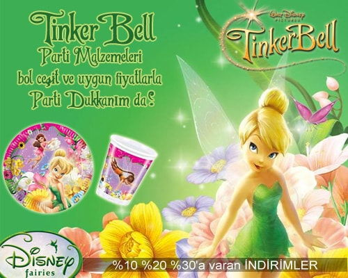 Tinkerbell Parti Malzemeleri