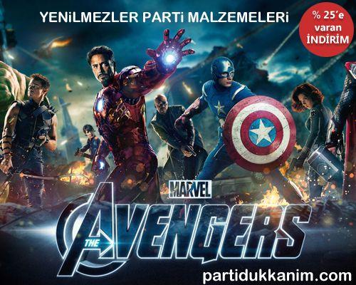 Yenilmezler (Avengers) Doğum Günü Parti Malzemeleri