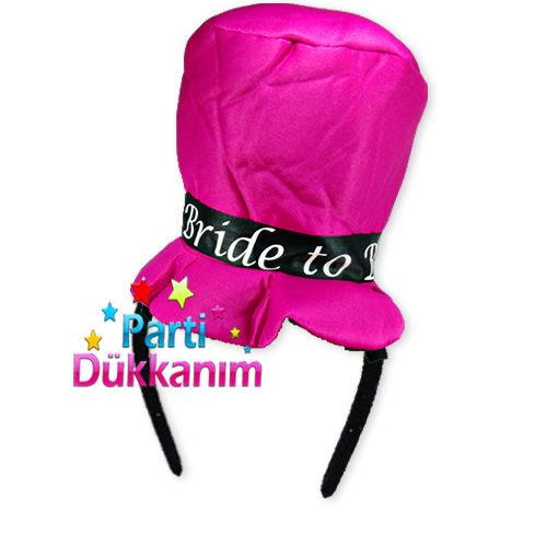 Bride To Be Şapkalı Taç (Fuşya)