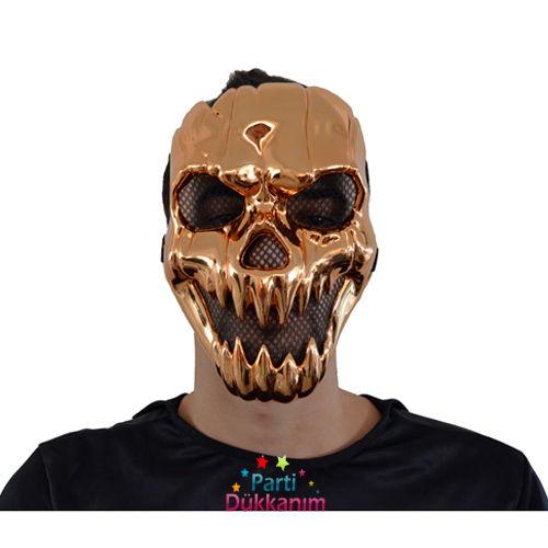 Balkabağı Parlak Plastik Maske
