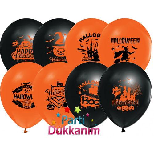 Cadı Bayramı Halloween Balon 15 adet