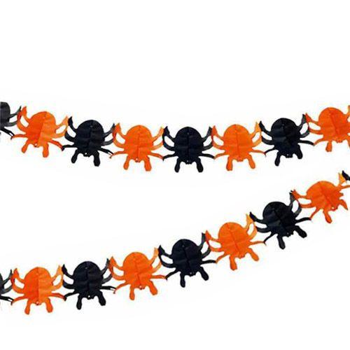 Örümcek Kağıt Zincir Süs (3 mt)