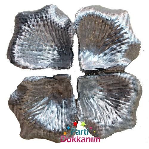 Gümüş Gül Yaprakları Yapay (80 Adet)