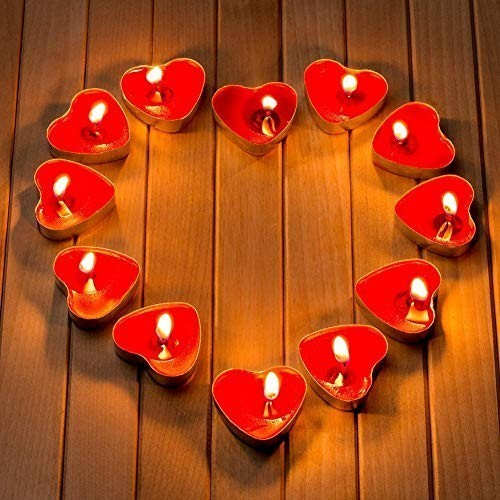 Kırmızı Kalp Tealight Mum 25 Adet, fiyatı