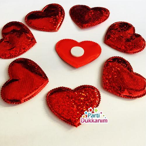 Kalp Sticker Hologramlı 10 adet