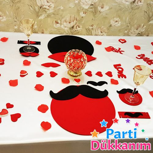 Romantik Masa Süsleme Seti