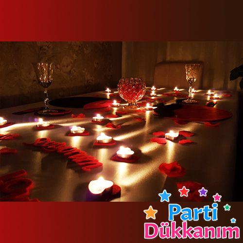 Sevgiliye Romantik Masa Hazırlama Paketi
