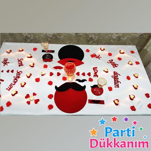 Sevgiliye Romantik Masa Hazırlama Fikirleri