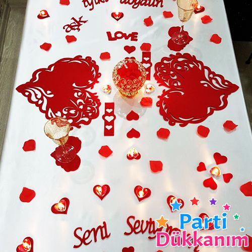 Sevgiliye Özel Doğum Günü Sürpriz Masa Süsleme Seti