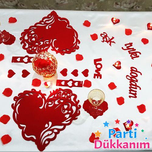 Sevgiliye Özel Doğum Günü Sürpriz Masa Süsleme Seti, fiyatı
