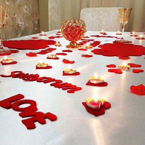 Romantik Masa Süsleme Paketi