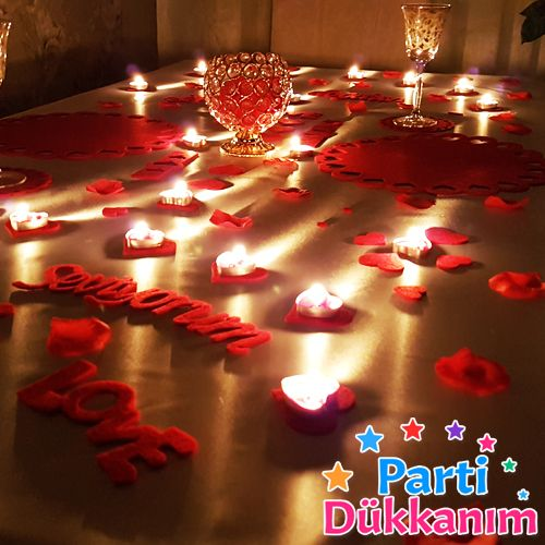 Sevgiliye Özel Masa Süsleme Keçe Süsler, fiyatı