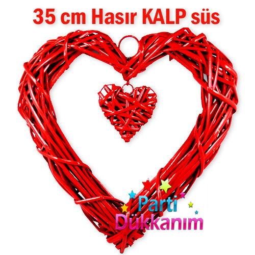 Hasır Sarkıt Kalp Süs 35 cm
