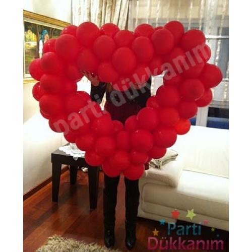 Kalp Balon Sevgiliye Özel \'\'MAĞAZADAN\'\' (120 cm)