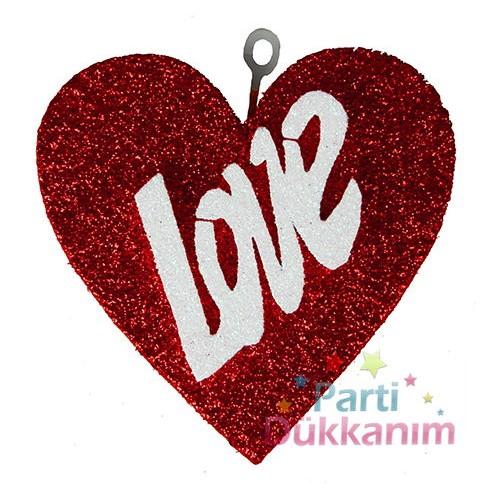 Kalp Simli Love Süs (14x13 cm)