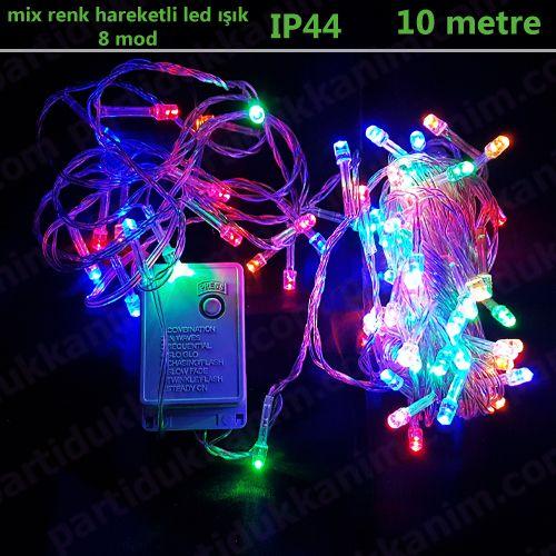 Karışık Renk Hareketli Led Işık (10 metre)
