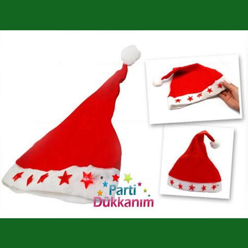 Işıklı Noel Baba Şapka