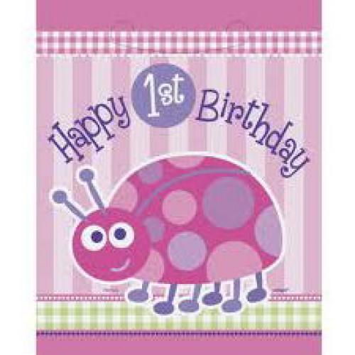 1 Yaş Ladybug Parti Çantası (8 adet)