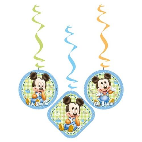 Baby Mickey Mouse Asma Süs (3\'lü)