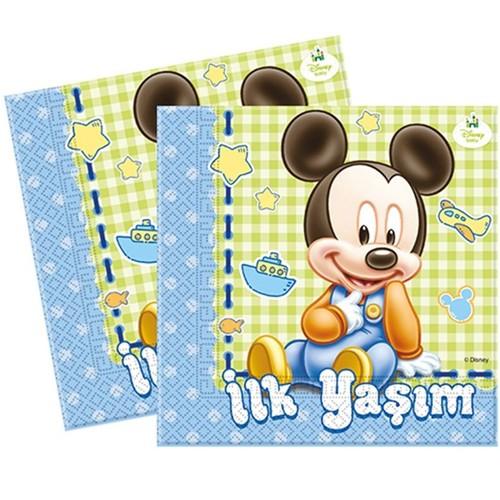 Baby Mickey İlk Yaş Peçete (20 adet)