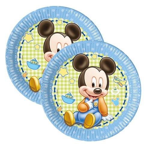 Baby Mickey İlk Yaş Tabak (8 adet)