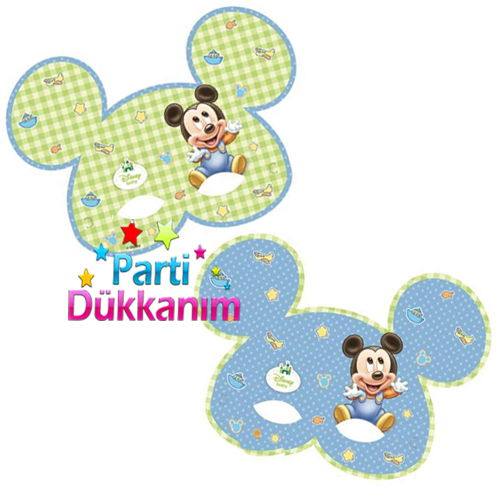 Baby Mickey Mouse Maske (6 Adet)