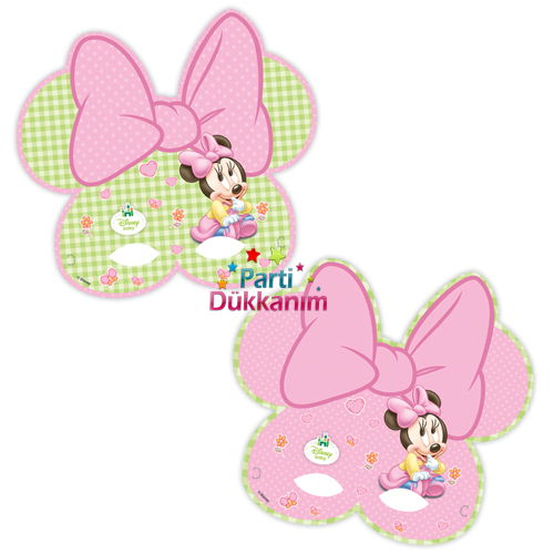 Baby Minnie Mouse Maske (6 Adet)