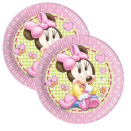 Baby Minnie İlk Yaş Tabak (8 adet)