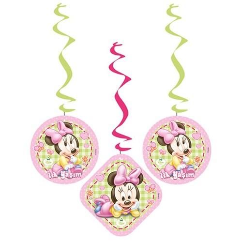 Baby Minnie Mouse Asma Süs (3\'lü)
