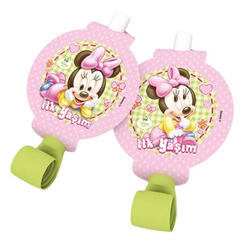 Baby Minnie Mouse Parti Düdüğü (6 adet)