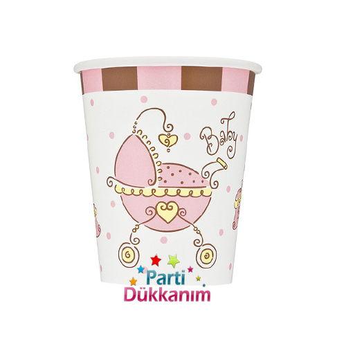 Baby Shower Joy Pink Bardak (8 adet)