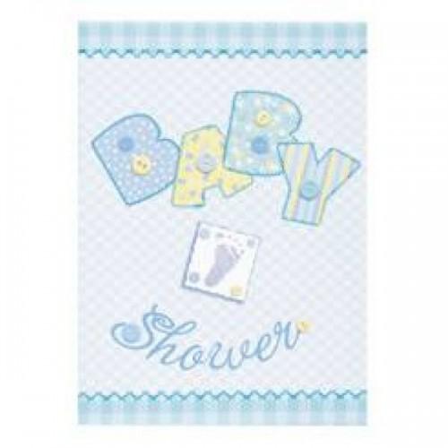 Baby Shower Davetiye Mavi (8 adet)