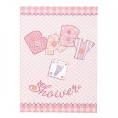 Baby Shower Davetiye Pink (8 adet)