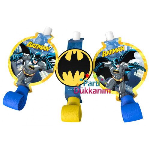 Batman Parti Düdüğü (6 Adet)