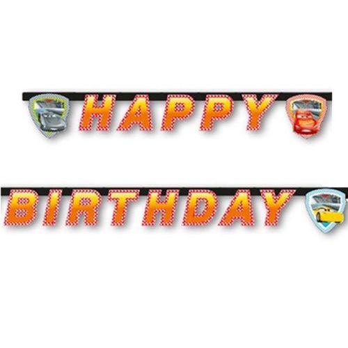 Cars formula happy birthday yazısı