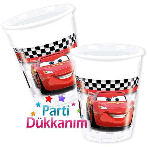 Cars Formula Bardak (8 adet)