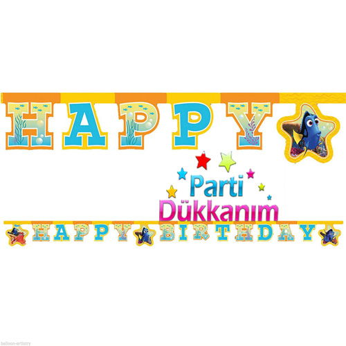Finding Dory Happy Birthday Yazısı (2 m.)