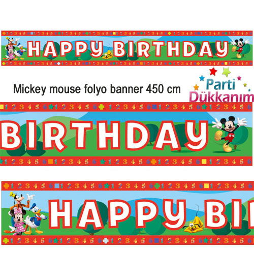 Mickey Mouse Folyo Banner 450 cm