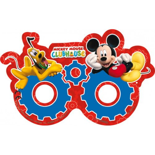Mickey Mouse Kağıt Maske (6 Adet)