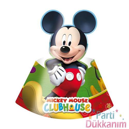 Mickey Mouse Parti Şapka (6 Adet)