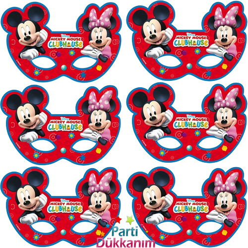 Mickey Mouse Maske (6 Adet), fiyatı