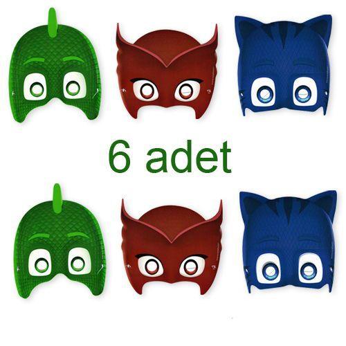 Pj Masks Kağıt Maske (6 Adet), fiyatı