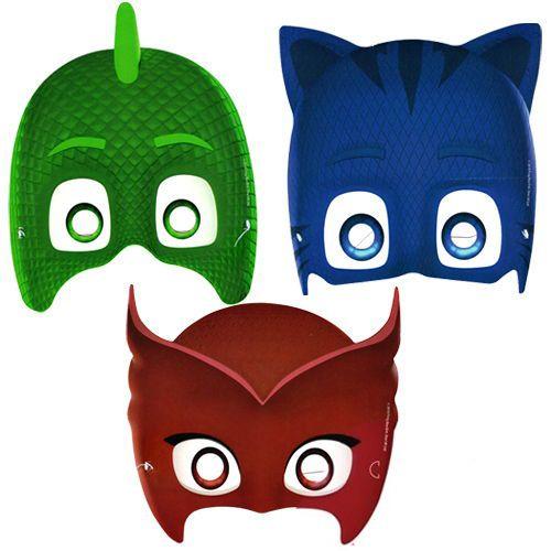 Pj Masks Kagit Maske 6 Adet Parti Maskeleri