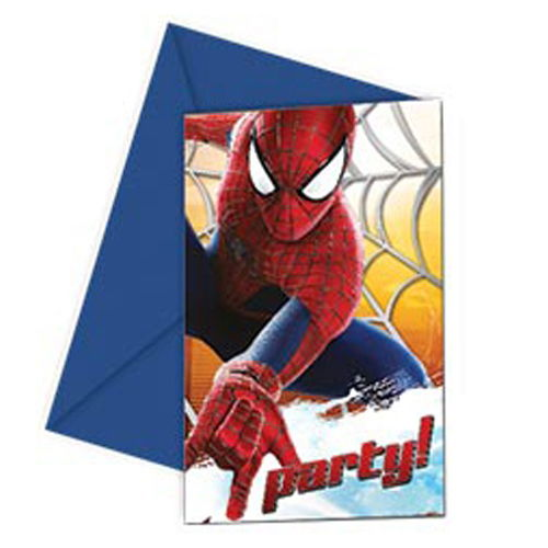 Spiderman Davetiye (6 adet)
