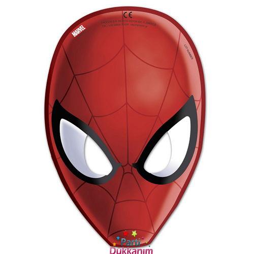Spiderman Ultimate Kağıt Maske (6 adet), fiyatı