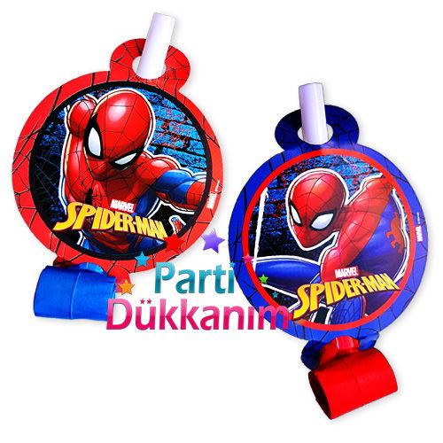 Spiderman Parti Düdüğü (6 adet)