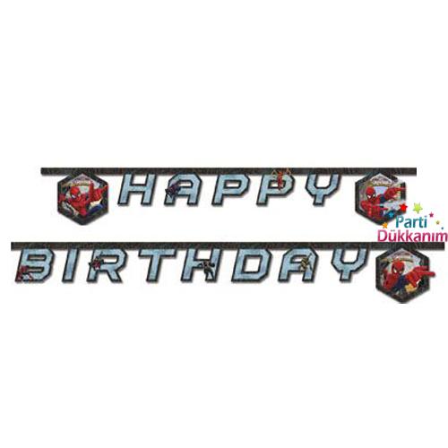Spiderman Ultimate Happy Birthday Yazısı 2 metre