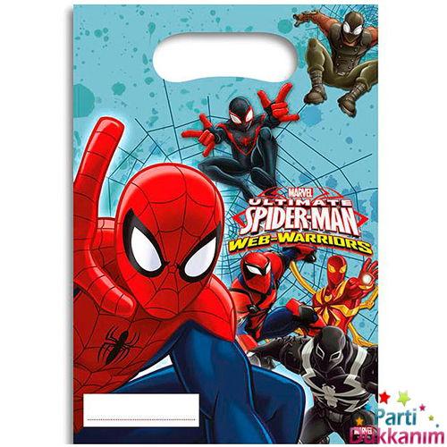 Spiderman Ultimate Hediyelik Poşet 6 adet