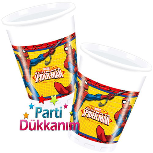 Spiderman Ultimate Power Bardak (8 adet)